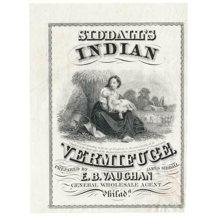 James Siddall, Philadelphia, Siddalls Indian Vermifuge