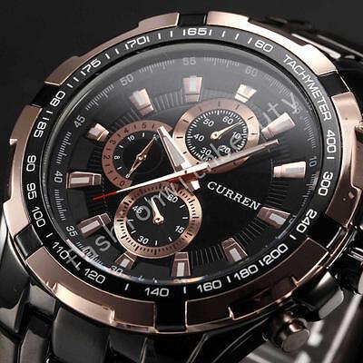 Curren Luxury Men`s Sport Stainless Steel Strap Quartz Analog Wrist Watch