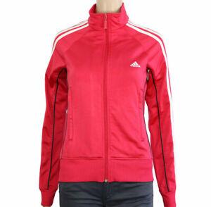Adidas-Taglia-44-Felpa-Della-Tuta-Con-Cerniera-Ragazza-Donna