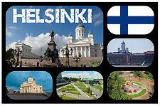 HELSINKI, FINLAND - SOUVENIR NOVELTY FRIDGE MAGNET - BRAND NEW - GIFT / XMAS