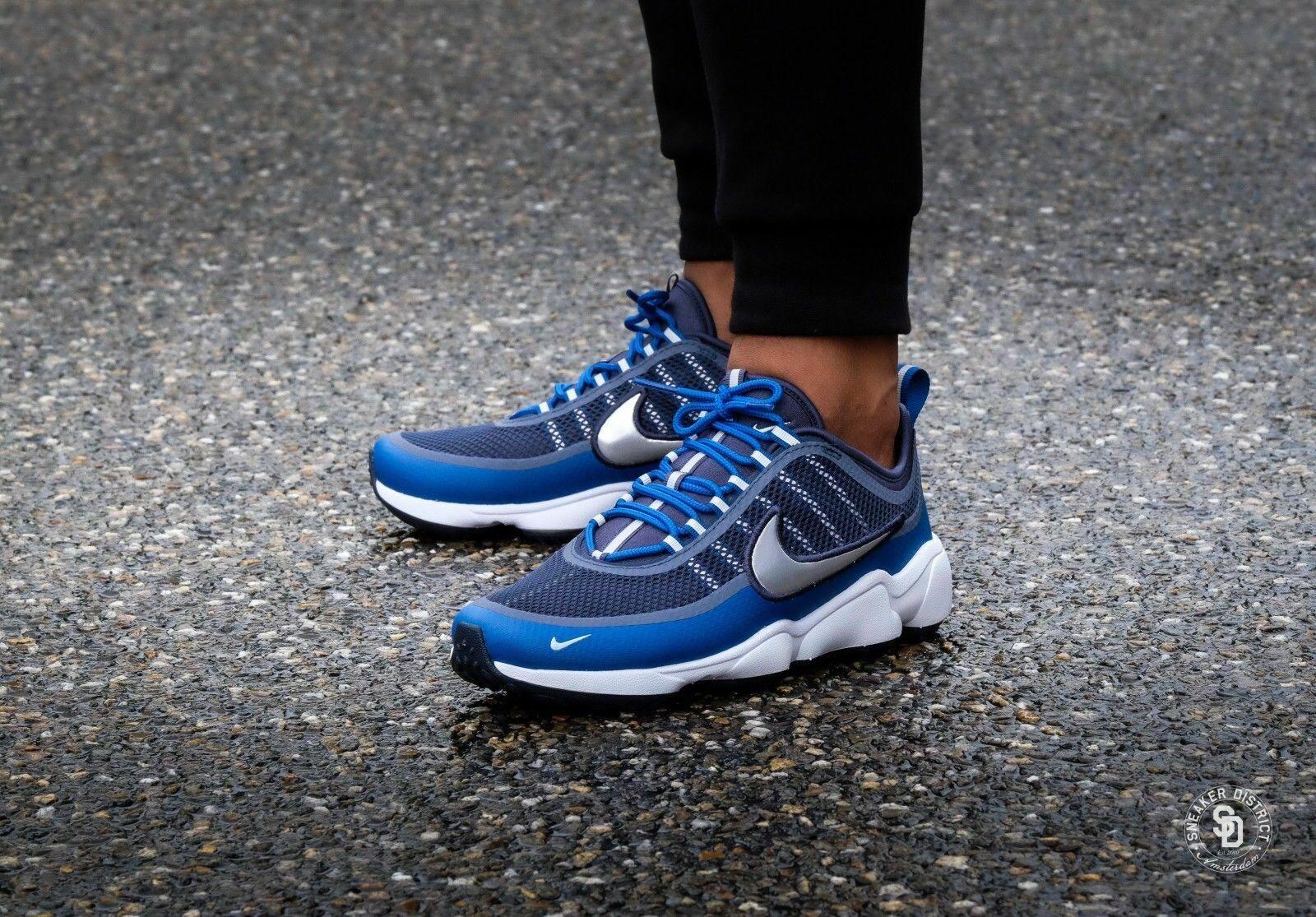 New Nike Zoom Spiridon Men's Running Training shoes Armory Navy bluee 876267 401