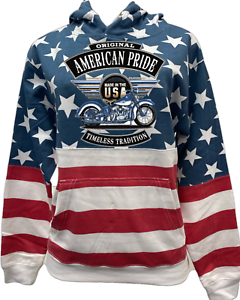 Biker Hoodie Patriotic Pullover Sweatshirt Timeless Tradition