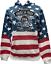 thumbnail 1 - Biker Hoodie Patriotic Pullover Sweatshirt Timeless Tradition