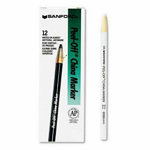White Standard Tip 12PK SHARPIE 2060 Peel-Off China Marker