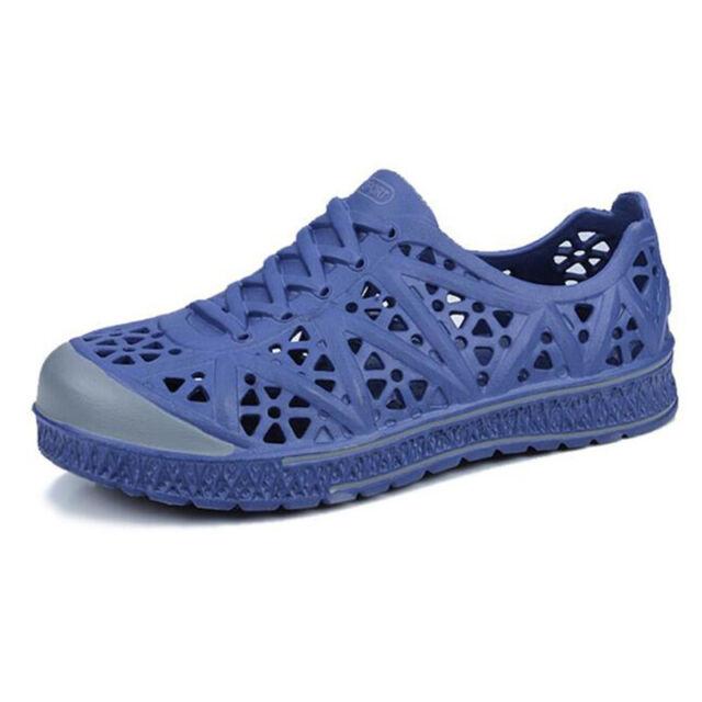 Men/'s Surf Clogs Beach Shoes Hollow Sandals Rubber Flat Slip on Sport Breathable