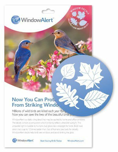 5 Per Package 2-Pack Window Alert Leaf Medley Decal