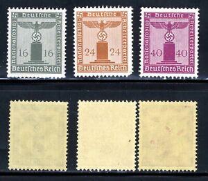 1938-42-Germany-Nazi-SCF1-3-STAMP-Third-Reich-Hitler-Swastika-Deutsch-WWII-MNHOG