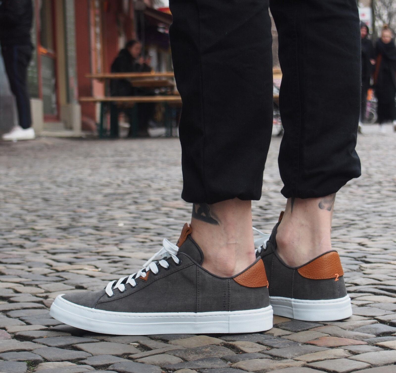 HUB Footwear Schuhe Hook-M C06 black/white Sneakers Herrenschuhe canvas NEU