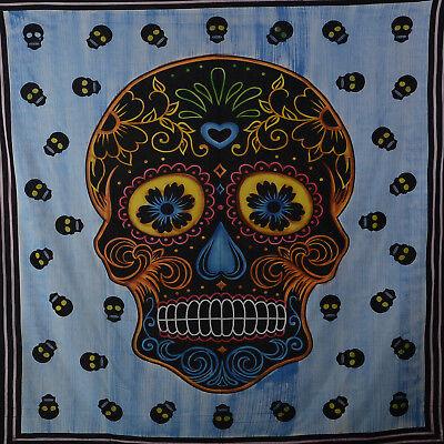 Wandbehang Skull Uv-aktives Dekotuch La Catrina Sugar Skull Totenkopf Ca Möbel & Wohnen Sonstige 235 X Gute WäRmeerhaltung