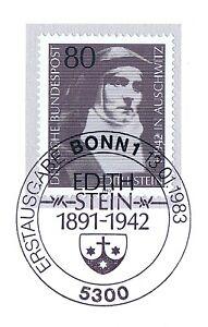 Fougueux Rfa 1983: Edith Stein Nr 1162 Avec Propre Bonner Ersttags-cachet Spécial! 1a 155-rstempel! 1a 155fr-fr Afficher Le Titre D'origine