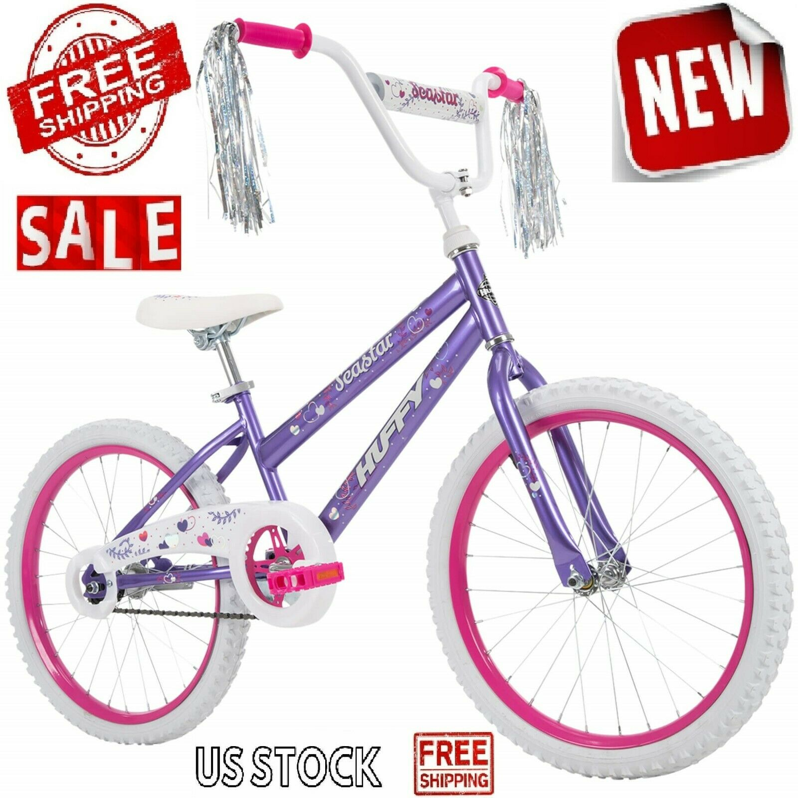 18 Girls Genesis Hollywood Bike Training Wheels Pink Bmx Style Gift For Sale Online Ebay