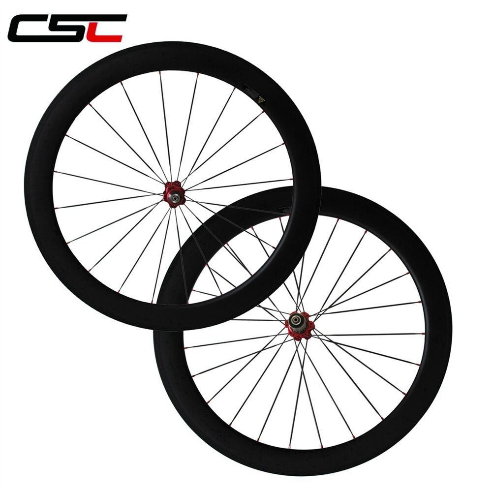 CSC   60mm Tubular  carbon road wheels road racing wheelset 700C  sale with high discount