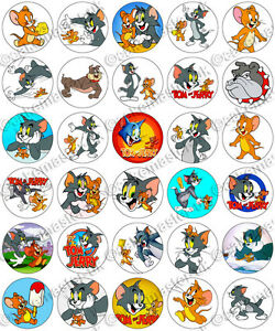 30 x Tom and Jerry Party Edible Rice Wafer Paper Cupcake Toppers eBay