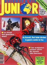 Science et vie junior n°26 05/1991 Araignées Koweit Red Adair Indiens Sioux