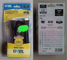 Cavo HDMI G&BL High Speed con Ethernet 1080p 1.5m - Cod.  BLCHDMI015 e N°8921