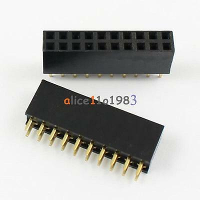 5PCS 2x8 16 Pin 2.54mm Double Row Female Straight Header Pitch Socket Pin Strip