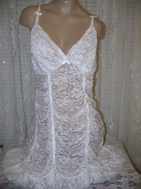 Flora by Flora Nikrooz 2X Chemise Panty Stretch Lace Ivory Bridal New