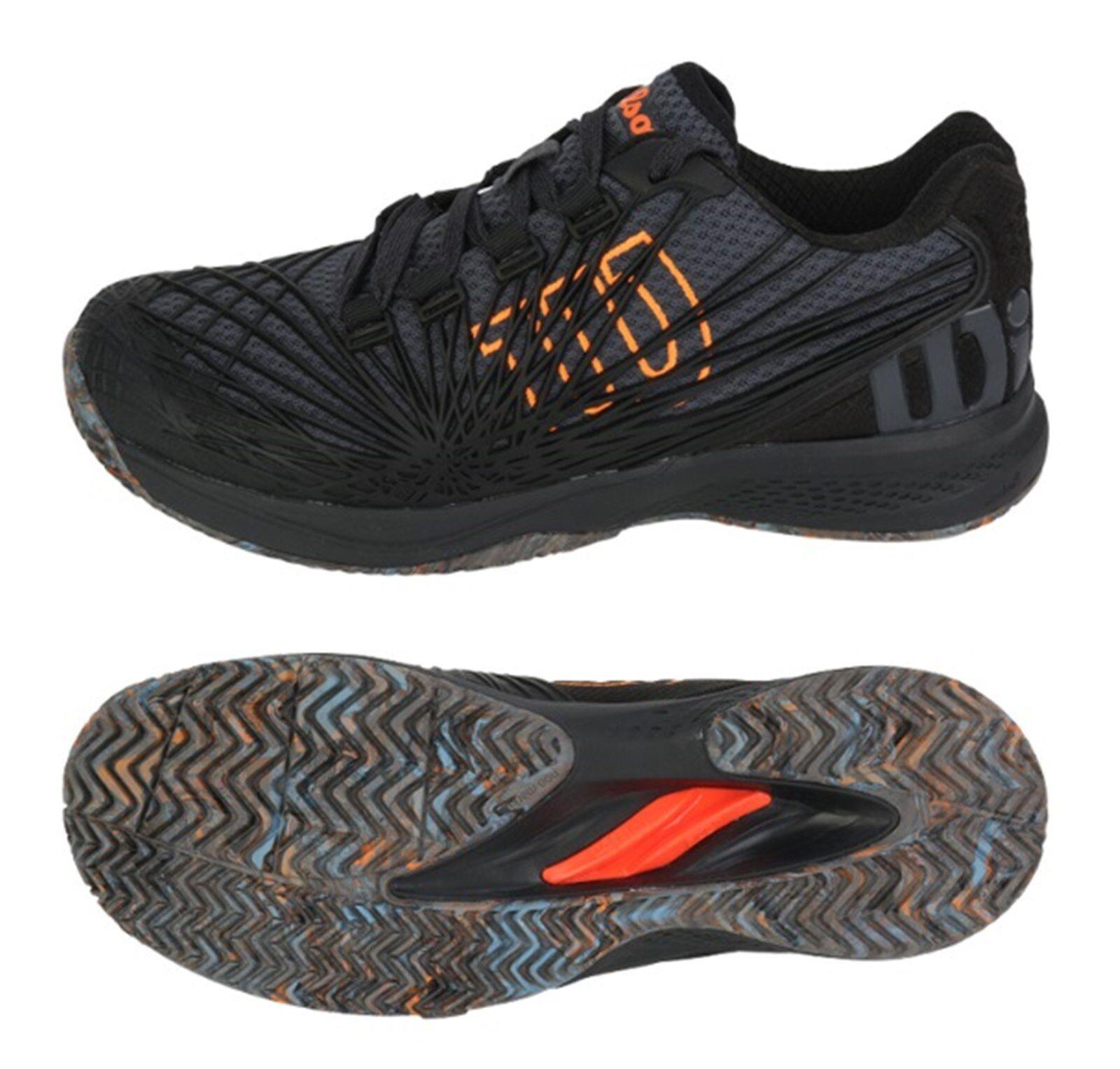 Zapatos Tenis Wilson hombres Kaos 2.0 que ejecutan Raqueta De Tenis Zapato Negro WRS323840