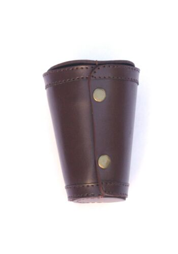 Shotgun Closed 4 Stacking Stirrup Shot Cups in Leather Case NEW