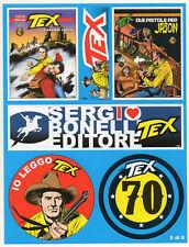 TEX WILLER foglietto di ADESIVI celebrativi per i 70 anni - serie numero 5/8