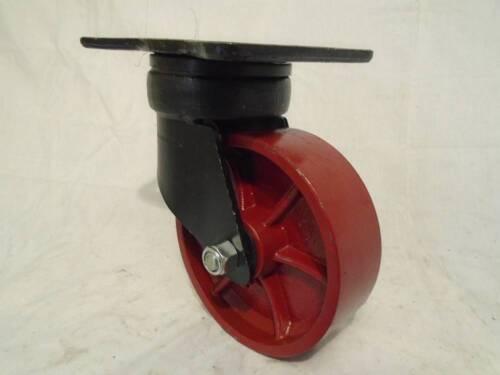 """2 2 6/"""" x 2/"""" Kingpinless Swivel Caster //Ductile Steel Wheel 2000 lb ea. Rigid"""