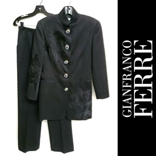 Gianfranco Ferre Couture Vintage Black Cocktail Pa