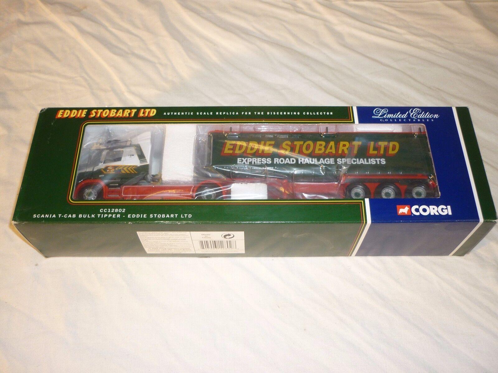 Corgi CC12802 Scania T taxi con remolque volquete a granel Eddie Stobart Ltd.