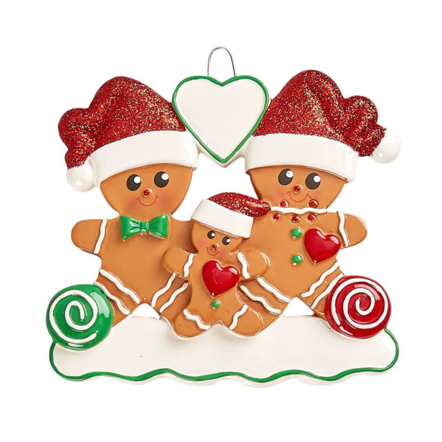 PERSONALIZED CHRISTMAS ORNAMENT GINGERBREAD NEW FAMILY ...