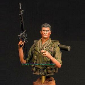 Unassembled-1-10-Soldier-Bust-Garage-Kits-Resin-Unpainted-Figure-Model-Statue