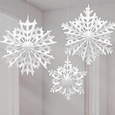 Paper Snowflake Hanging Fans - 30cm - 40cm Christmas Decorations