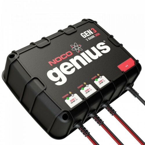 NOCO GEN3 On Board 30A 3 Bank Battery Charger for 12V trolling motor/generator