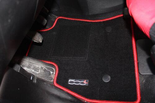 Tappetini su Misura Fiat 500L BordoRosso in Moquette Alta Qualità 1Ricamo