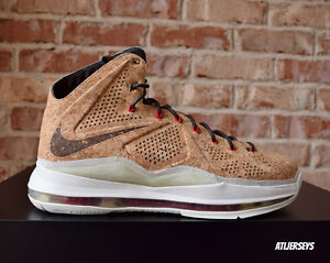 the latest 41f47 3b989 Image is loading Nike-Air-Lebron-James-X-10-EXT-Cork-