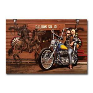 Ghost-Rider-David-Mann-Motorcycle-Art-Silk-Poster-Canvas-Print