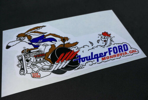 FOULGER FORD Vintage Style DECAL//Vinyl STICKER drag racing rat rod hot rod