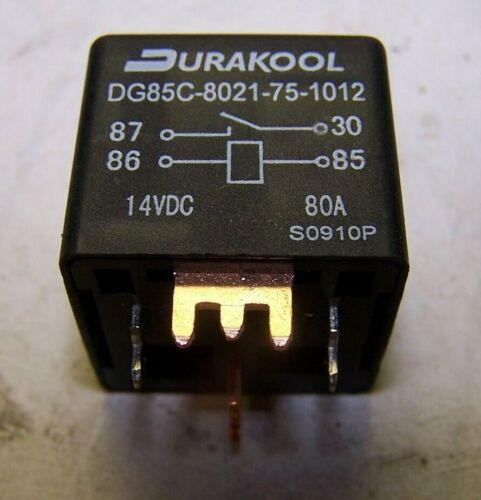 NEW DURAKOOL DG85C-8021-75-1012 RELAY AUTOMOTIVE 14 VDC  80A