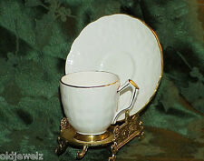 John Aynsley Golden Crocus Demi Tasse Cup & Saucer Retired Unused Vintage