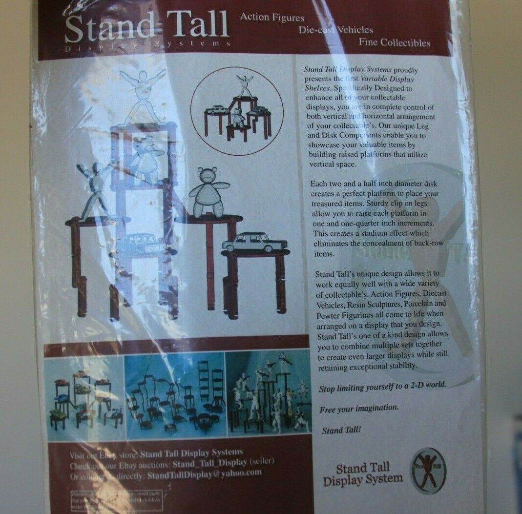 Stand Tall 3-D Display System System System for STAR WARS ACTION FIGURES 10x DISPLAY STANDS 31f94c