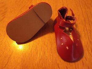 aa9b5157778dd Details about DRESSY DOLL SHOES IN RED 75 mm FITS AMERICAN GIRL