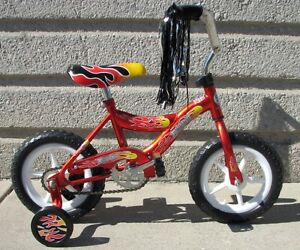 New 12 Boy S Bike Red Eva Tires Training Wheels 3 To 5 Years Old