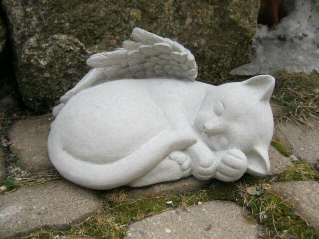 Angel Cat, Concrete Memorial Statue Cat Angel