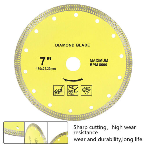 7 Inch Diamond Saw Blade Turbo Circular Cutting Disc for Stone Ceramic Wall Tile