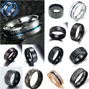 Men-039-s-Rings-Stainless-Steel-Celtic-Dragon-Titanium-Wedding-Band-Thumb-Ring-Gift
