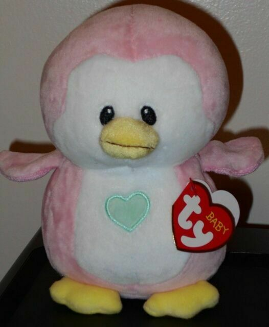 Ty Beanie Boo Baby Penny Pink Penguin New Soft Toys 6 inch Boos Plush Teddy