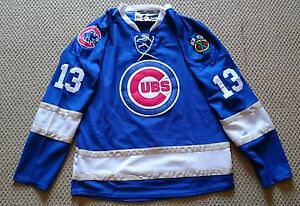 Image is loading Brand-New-NHL-Replica-Chicago-Cubs-Hockey-Jerseys- dd0ea707706