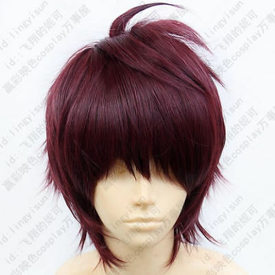 LY_1012 Dramatical Murder DMMd Mizuki Short fuchsia mix cosplay wig