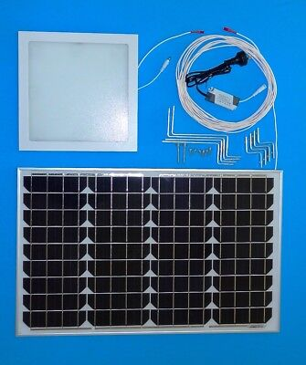 Solar Powered LED Shaftless Skylight Kit Square 225mm Remote Switch DIY