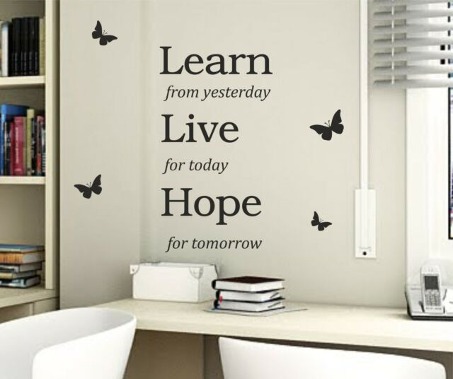 Learn Live Hope wall Quote Sticker wall decal vinyl decor living room wall art