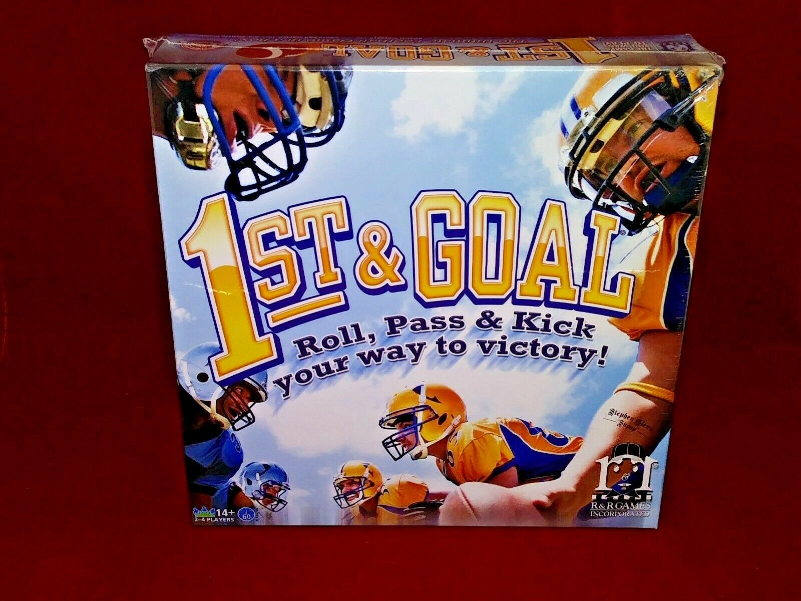 1st & Goal Football Board Game R&R Games NEW Factory Sealed 2013 Sports Strategy