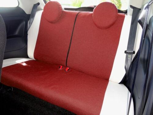 Schonbezüge Foderine Autositzbezüge Bordeaux Maßgeschniedert Fiat 500 2007/>